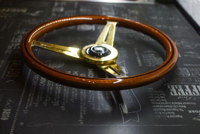 ZŁOTA kierownica drewniana NARDI Torino 360mm
