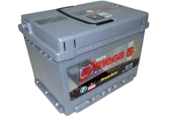 Akumulator AMEGA 5 Premium 63Ah 610A