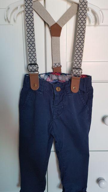 Spodnie z szelkami smyk R 86