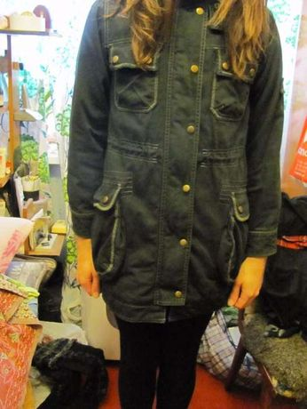 Куртка-парка, осень-зима (на девочку) Леопард