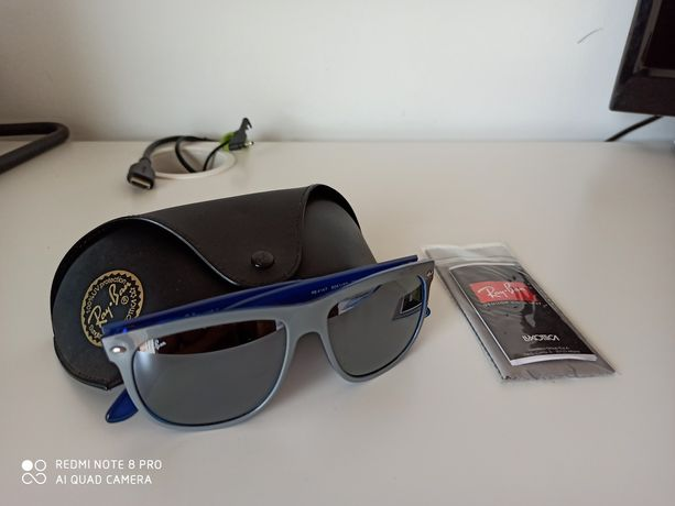 Óculos de sol espelhados RayBan verdadeiros uni sexo