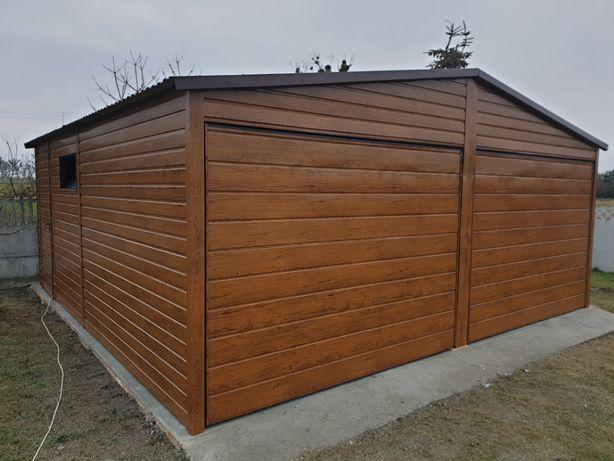 Garaż blaszany Drewnopodobna Blacha Blaszak Poziom PROFIL ZAMKNIĘTY 65