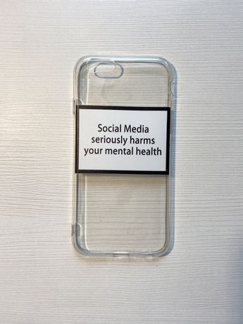 "Iphone 6/6s etui ""Social media seriously harms your mental health"""