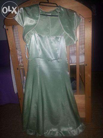 Śliczna zielona sukienka z bolerkiem rozm. S