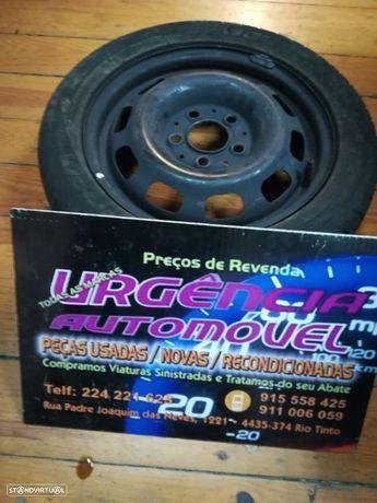 Jante com pneu - Audi 5 furos ferro - 195/50/R15