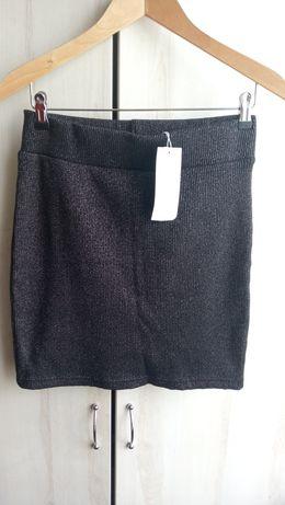 Spódniczka spódnica ONLY z metką srebrna nić błyszcząca