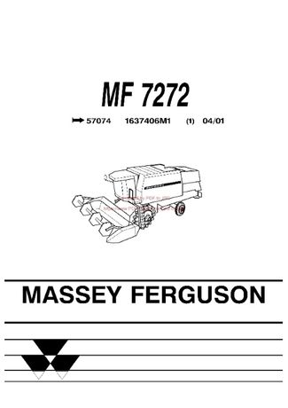 Katalog części kombajn Massey Ferguson 7272