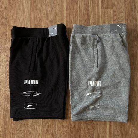 Нові чоловічі шорти Puma REBEL MEN'S SHORTS Black/Gray Розмір S та M