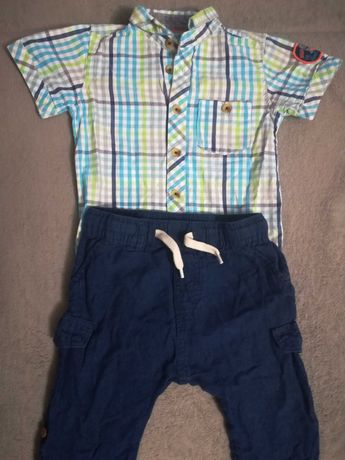 Koszulo body i spodnie chłopięce