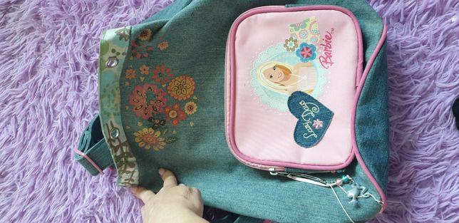 Plecak tornister jeans dżinsowa Barbie