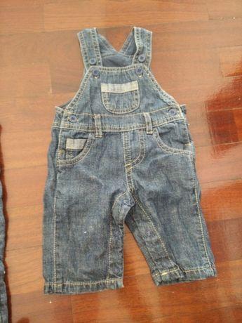 calções e jardineiras zippy novo com etiqueta
