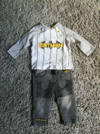 Komplet spodnie i bluzka batman roz 74