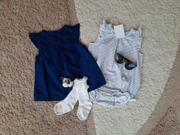 Речі h&m 86-92/боди/блуза/платье/гольфи