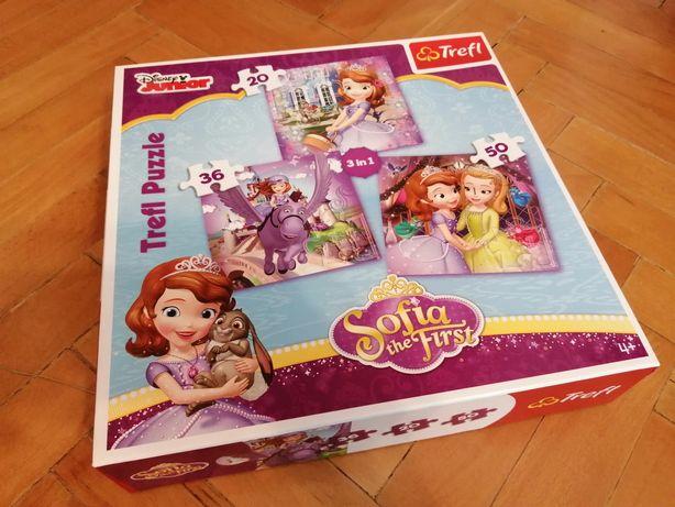 Puzzle TREFL Księżniczka Zosia 3w1