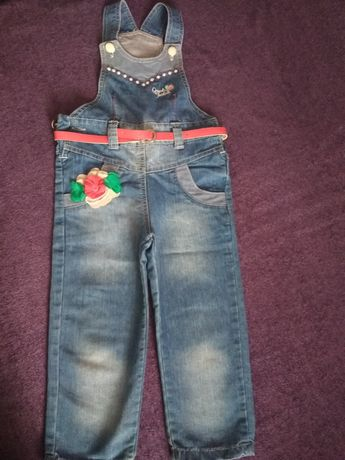 Турецкий джинсовый комбинезон, 92-98 см