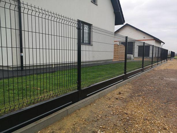 50zlmb Kompletne Ogrodzenie panelowe Panele ogrodzeniowe Słupki montaż