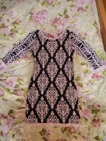 Шикарное вязаное платье