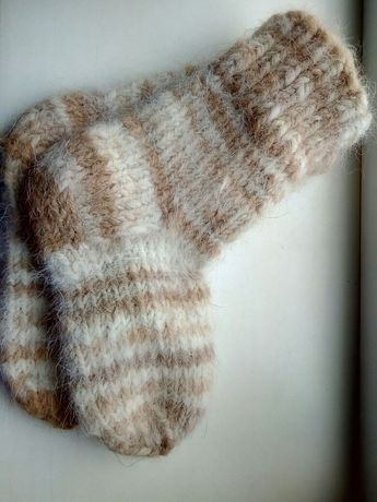 Подростковые носки из собачьей шерсти. 33 размер!