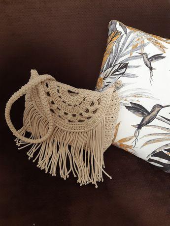 HANDMADE torebka ze sznurka bawełnianego