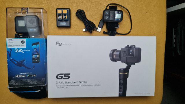 Super zestaw - Kamera GOPRO 6 Black+Gimbal+pilot+Baterie