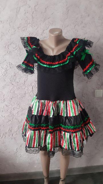 платье хэлоуин мексика Санта муэрте хеллоуин M-L 44-46-48 рр