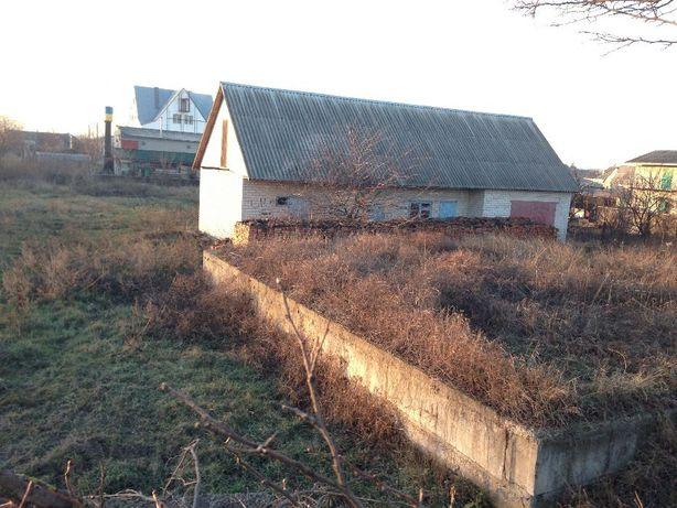 Продается участок недостроенный дом Попельня