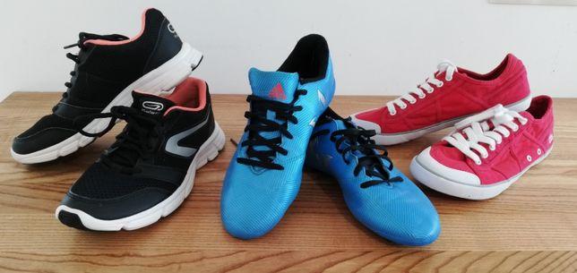 3 pary butów sportowych tbs adidas decathlon rozmiar 37 - 38