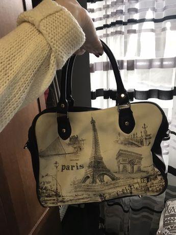 Кожаная сумка с Парижа