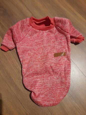 Bluza dla psa różowa długość 34 cm