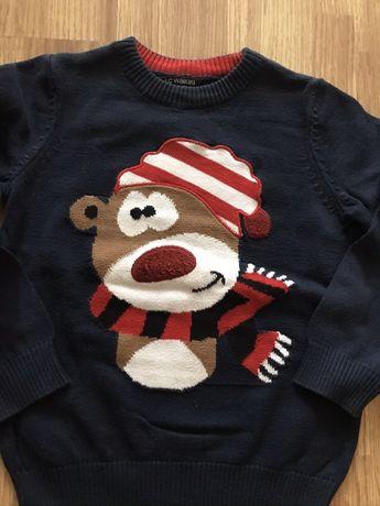 Яскравий святковий светр для хлопчика 98-104 розмір