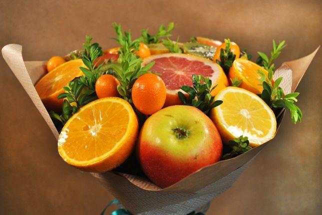 Букет з фруктів, букет из фруктов, подарок, подарунок