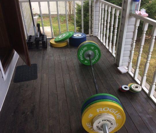 Олимпийский гриф, блины 200 кг штанга в сборе