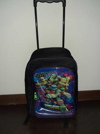 Mochila trolley das tartarugas ninja