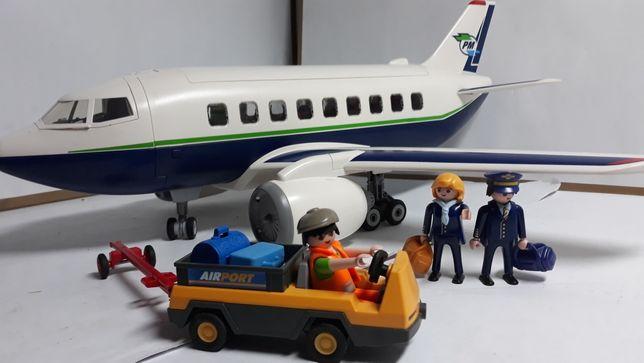 Playmobil samolot z obsługą