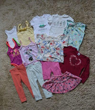 Bluzka, strój kąpielowy, spodnie, spódniczka r.92; zestaw, paka