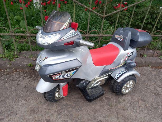 Електромобиль. Електромотоцикл  детский с акомулятором