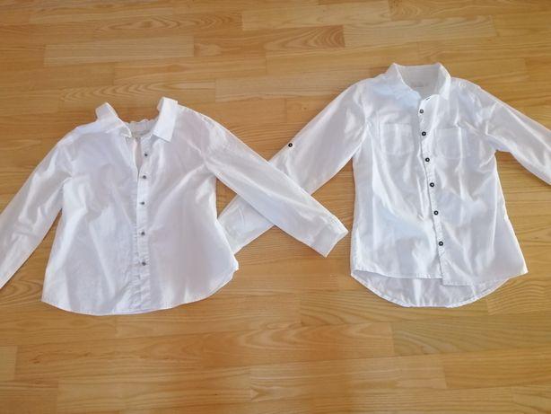 Bluzka koszulowa biała Zara rozm.134 rozm.146 ze Smyka jak nowe