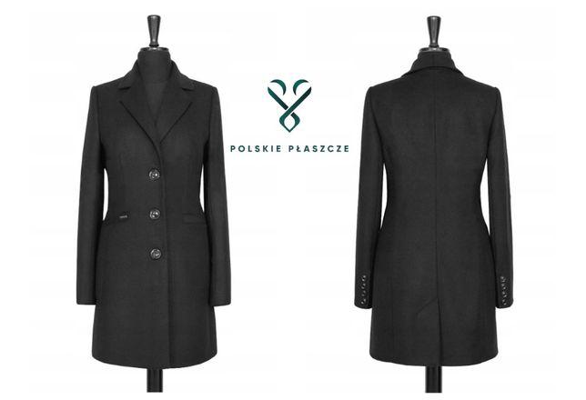 HUNA PAULA polski płaszcz klasyczny przejściowy rozmiary