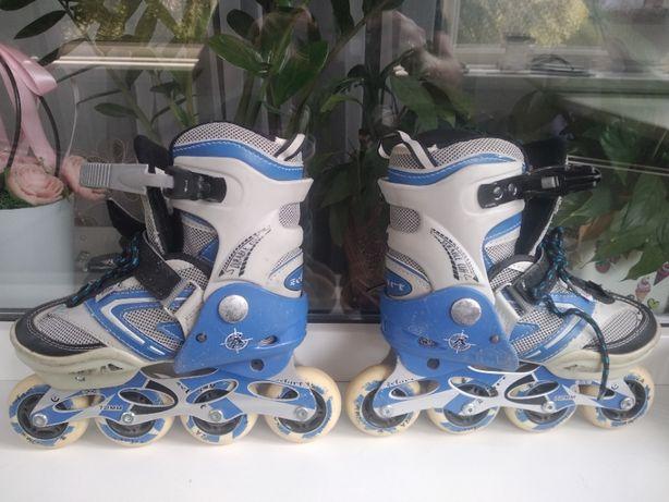 Роликовые коньки Zelart, раздвижные, размер 32-35