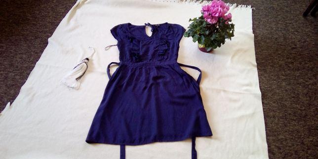 Sukienka tunika Asos rozmiar 10 M granatowa