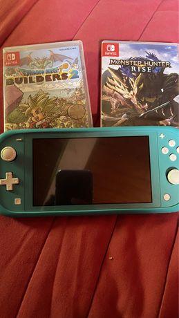 Nintendo switch lite com 2 jogos