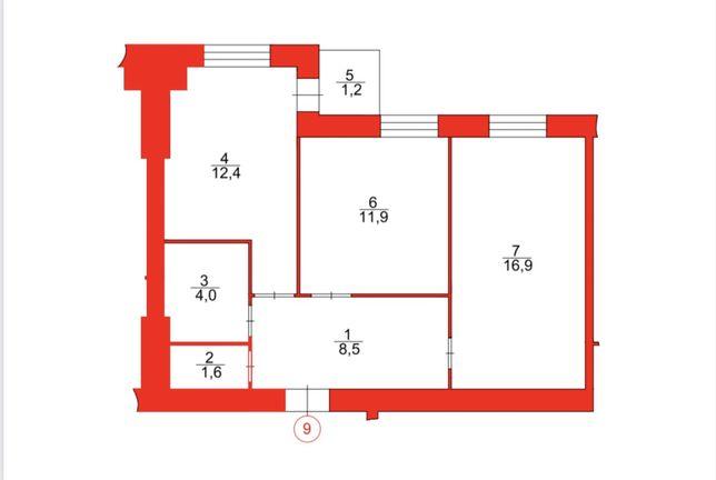 Продаж двокімнатної квартири в новобудові.
