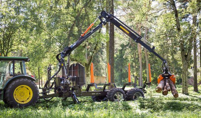 Przyczepa leśna BMF 17T2 Pro z Żurawiem BMF 905