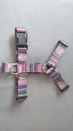 Szelki typu guard dla psa różowe kolorowe shih tzu jack russel terrier
