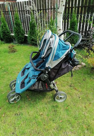Baby jogger city mini double plus podnóżki i pałąk