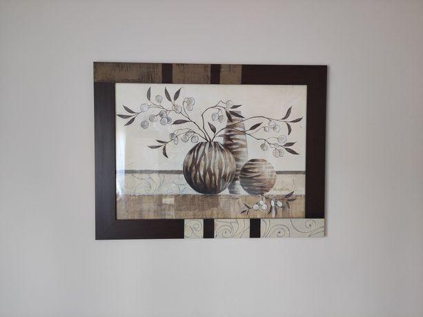 Obraz brązowo-beżowy  82x62cm