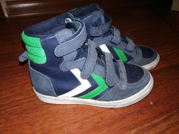 Buty sportowe trzewiki chłopięce Hummel skóra r. 32 na rzepy