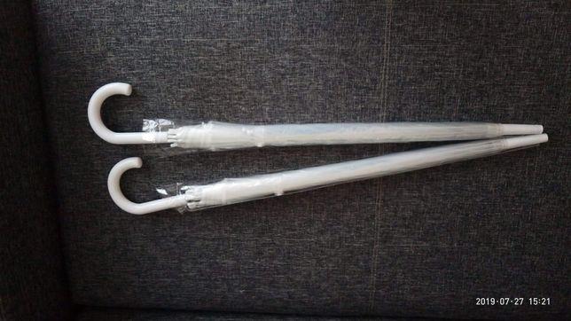 Przeźroczyste parasolki 2 sztuki