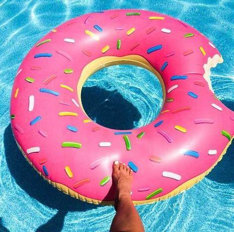 Donut XL 90cm pączek koło dmuchany materac basen nad wodę