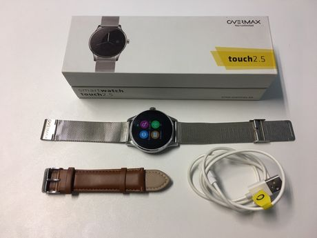 Smartwatch Overmax touch 2,5 jak nowy caly komplet + drugi nowy pasek!